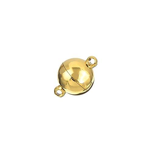 Gold Kugel Magnetverschluss Edelstahl Anschluss 14mm
