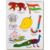 Little Genius National Symbols (India) With Knob, Multi Color