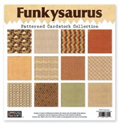 Funkysaurus Patterned Cardstock Collection // The Paper Loft