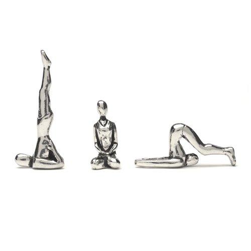 Pewter Yoga Poses Figurines