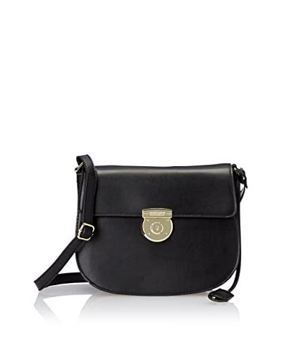 London Fog Women's Stewart Saddle Bag, Black