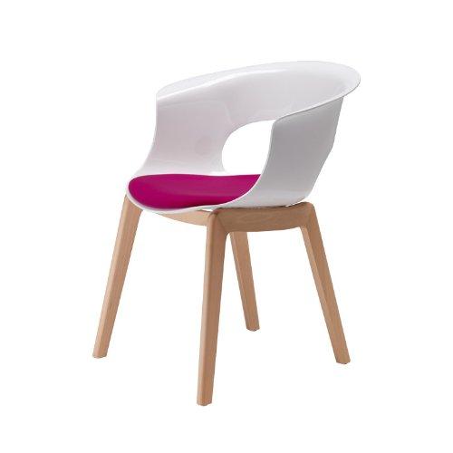 Scab-Design-Designer-Stuhl-wei-mit-Kissen-Miss-B-Natural-Antishock