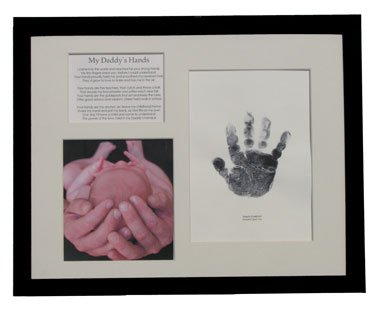 Daddy's Hands Keepsake Frame with Photo and Handprint