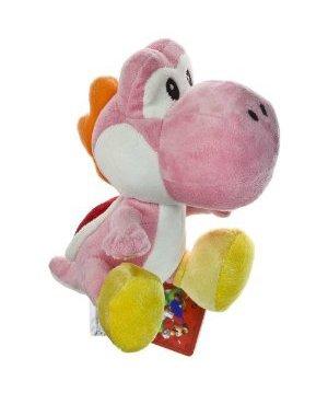 "Nintendo Super Mario Bros. Wii Plush Toy - 6"" Pink Yoshi"