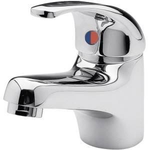 Ultra Eco Click Single Lever Control Mono bathroom basin sink mixer tap with Push Button Waste Chrome