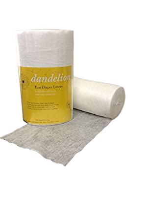 Dandelion Diapers Environmentally Friendly Biodegradable and Flushable Diaper Liners Natural Parenting Eco-Friendly Cloth Diapering 100% Natural