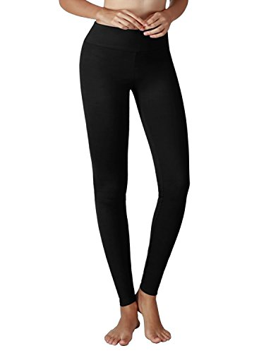 Yoga Reflex Women's Active Yoga Running Pants Workout Leggings - Hidden Pocket , Black , Small