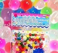 2 pk.-MULTI COLOR 7 COLOR CRYSTAL BALL Water Bead Gel Soil w/ 1 Jelly BeadZ® ButterflyZ - 1