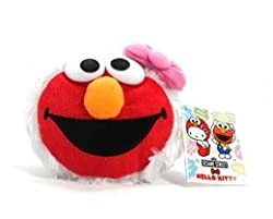 4 Hello Kitty x Sesame Street Face Coin Purse Kitty Elmo