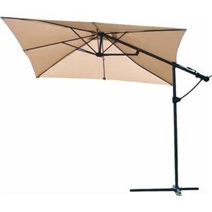 LB International 8.5' Square Cantilever Umbrella with Net 93233 | eBay