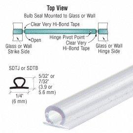 CRL Translucent Vinyl Bulb Seal 5/32