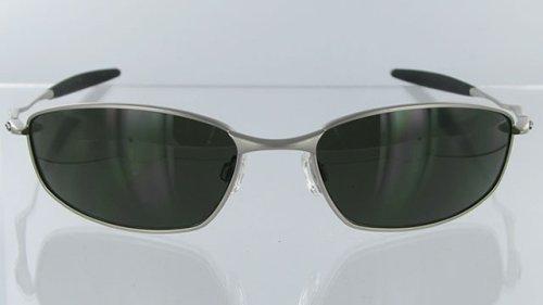 Oakley Men's Whisker Sunglasses,Silver Frame/Dark