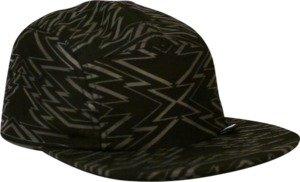 Girl Zig Zag Black / Grey 5 Panel Camper Hat