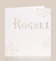 Wedding Regret Card