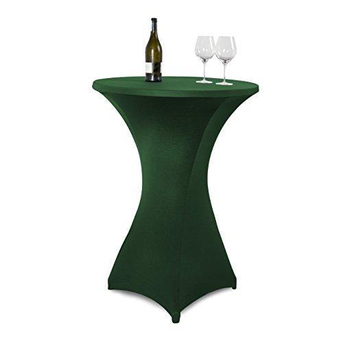 Vanage-Outdoor-Tischdecken-Strech-Husse-fr-StehtischeBistrotische-Tischdurchmesser-70-80-cm-grn