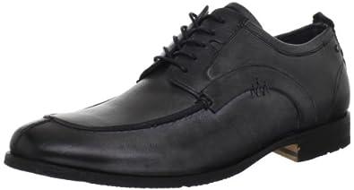 (降价)Rockport Men's Parker Hill Moc Oxford 乐步男士全粒面休闲皮鞋黑$65.59