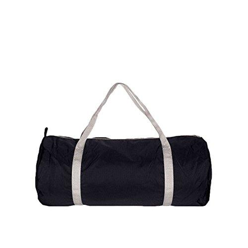 american-apparel-nylon-sport-gym-tasche-einheitsgrosse-schwarz-silber