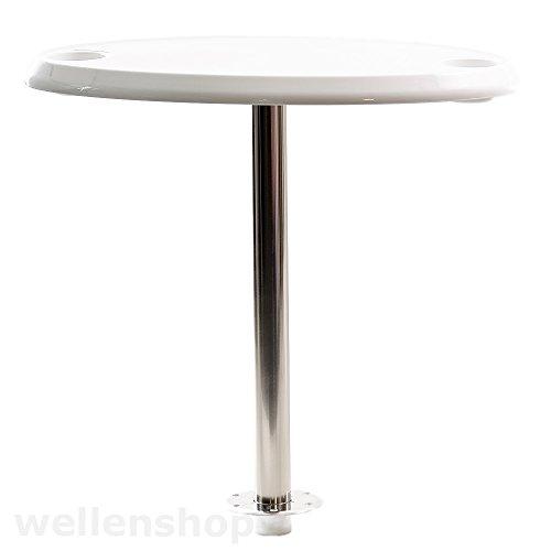 Tischplatte-Oval-fr-Einzeltischfu-Tischbein-Boot-Wohnmobil