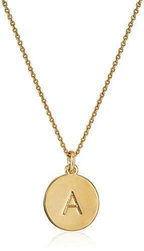 kate spade new york Gold-Tone Alphabet Pendant Necklace, 18″