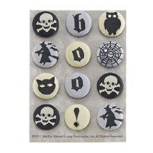 Martha Stewart Crafts Elegant Witch Fabric Brads