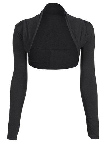 Long Sleeve Womens Shrug Bolero Cardigan Black