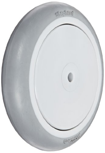 "Shepherd 007320 Regent/Monarch 5"" Diameter x 1"" Width MonoTech Light Duty Wheel with Precision Bearing, 160 lbs Capacity, Gray"