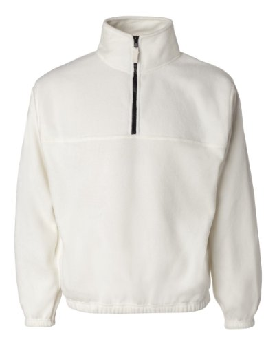Sierra Pacific 3051 Adult Quarter Zip Poly Fleece Pullover - WINTER WHITE - X-Large