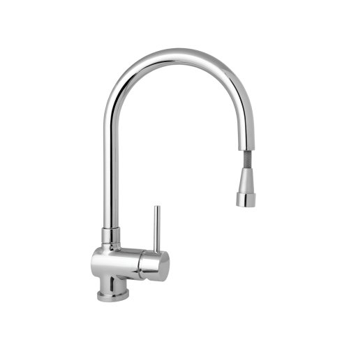 Deva STICK104 Stick Mono Kitchen Sink Mixer Tap with Pull Out Rinser Chrome Finish