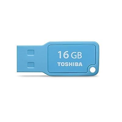 Toshiba TransMemory U201 Mini USB 2.0 Flash Drive, Blue (PFU016U-1AML)
