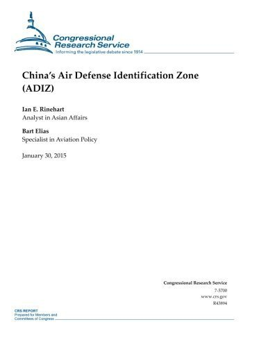 chinas-air-defense-identification-zone-adiz-crs-reports-by-congressional-research-service-2015-01-30