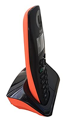 b720c700889 ... Gigaset A450 Black  amp  orange cordless landline phone