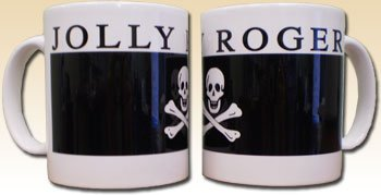 Jolly Roger Pirate - One 12 Oz. Coffee Mug