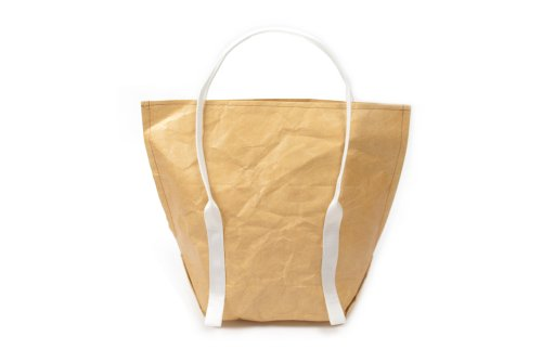 Mimot Reusable Lunch Bag, Brown with White Straps - 1