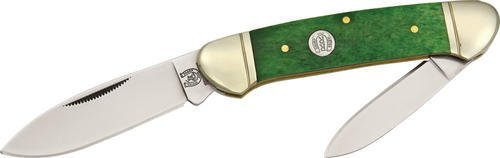 Rough Rider Knives 047 Canoe Pocket Knife With Peacock Smooth Bone Handles