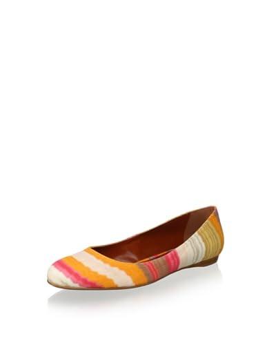 Missoni Women's Ballet Flat  [Coral/Orange/Tan]