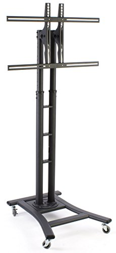 Displays2Go Mbtvsbkb Mobile Lcd Display Stand For A 32 To 60 Inches Flat Panel Monitor, Height-Adjustable With Tilting Bracket - Black
