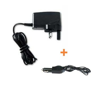 Mini USB Mains Charger + Car Charger Pack For Garmin Nuvi Garmin Nuvi 200w 205 215 215t 205w 205WT 250w 255w 200wt 200WT 255wt 255T 265T 265WT 275t 765t 775t 860 865t 770 760t Widescreen Models (See Product Description Below For Compatibility Details) - iZKA&#174; One Stop Shop For All Your Accessory Needs