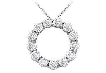 2 carat diamonds circle of life pendant in 14k