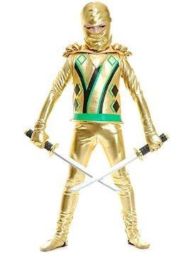 Big Boys' Gold Ninja Avengers Series III Costume Medium (8-10) (Gold Ninja Costume Boys compare prices)