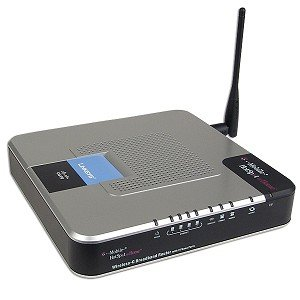 Linksys WRTU54G-TM T-Mobile HotSpot @Home 54Mbps 802.11g Wireless LAN 4-Port Router w/2 Standard Landline Phone Jacks