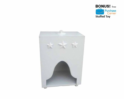 Bella Diaper Caddy (Tabletop, Floor Model) With Free Purchase Corner Stuffed Toy front-1023782