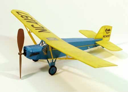 Dumas 215 Curtiss Robin - Over 50 Laser Cut Parts - Walnut Scale Wooden Model Airplane