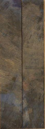 """Buckeye Burl Stabilized Blue (2 Pc) Mini Knife/Razor Scale 3/16""""X1""""X5"""" Lu1"""