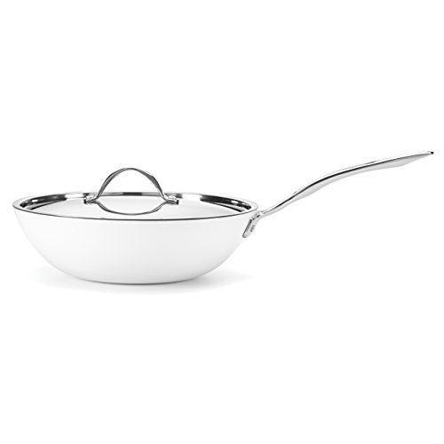 Food & Wine For Gorham Light Cast Iron 12 Inch Stir Fry Pan, White (Food And Wine Cast Iron compare prices)