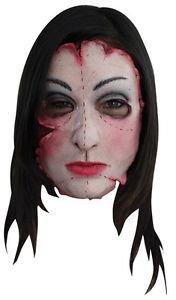 Serial Killer Mask 16 Psycho Scary Creepy Latex Insane Criminal Flesh Costume (Horror Flesh Grey Makeup)