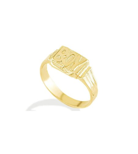 New Solid 14k Yellow Gold Baby Boy Children Kids Ring