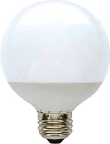 GE Lighting 76464 Energy Smart LED Globe Light Bulb, White, 2.8-Watt