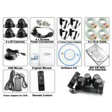 State Of The Art SecurONE - Detachable Complete Surveillance Kit (H264 DVR + 4 Cameras + HDD) Security Tracer system New