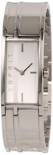 Esprit houston - Reloj analógico de mujer de cuarzo con correa de acero inoxidable plateada - sumergible a 30 metros