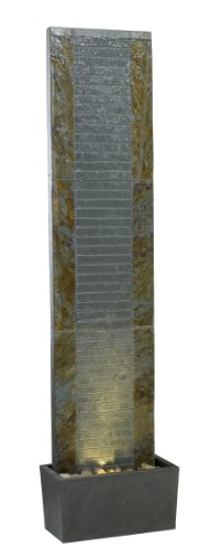 Kenroy Home #50619SL Lane Indoor/Outdoor Floor Fountain in Natural Slate Finish